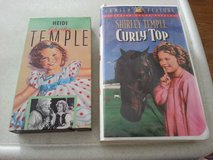 SHIRLEY TEMPLE  in HEIDI & CURLY TOP   VHS tapes in Bolingbrook, Illinois