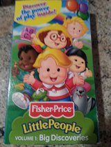 Fisher Price Little People. VHS tapes in Bolingbrook, Illinois